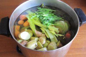 nước dùng dashi rau củ cho bé ăn dặm kiểu Nhật