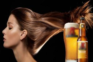 ủ bia cho mái tóc